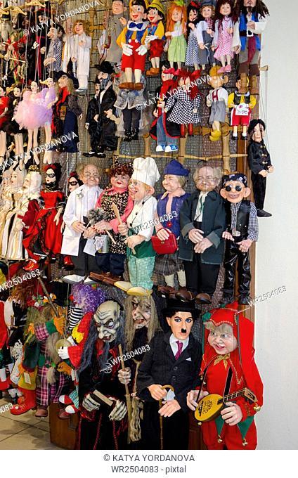 Marionette shop in Prague, Czech Republic