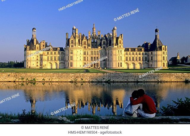 France, Loir et Cher, Loire Valley, listed as World Heritage by UNESCO, chateau de Chambord
