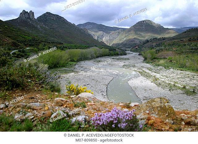 Cidacos valley, Biosphere reserve, La Rioja, Spain,Valle del Cidacos