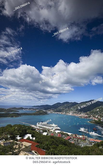 U. S. Virgin Islands, St. Thomas, Charlotte Amalie, Havensight Cruiseship Port from Paradise Point