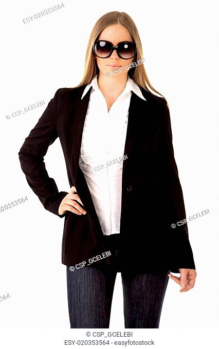 modern business woman with sun glas