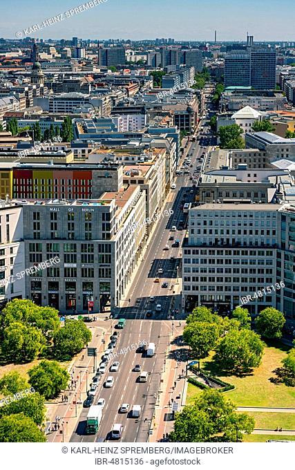 View of Potsdamer Platz, Mall of Berlin, Leipziger Strasse, Mitte, Berlin, Germany