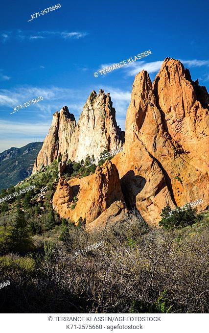 The Garden of the Gods, a National Natural Landmark near Colorado Springs, Colorado, USA