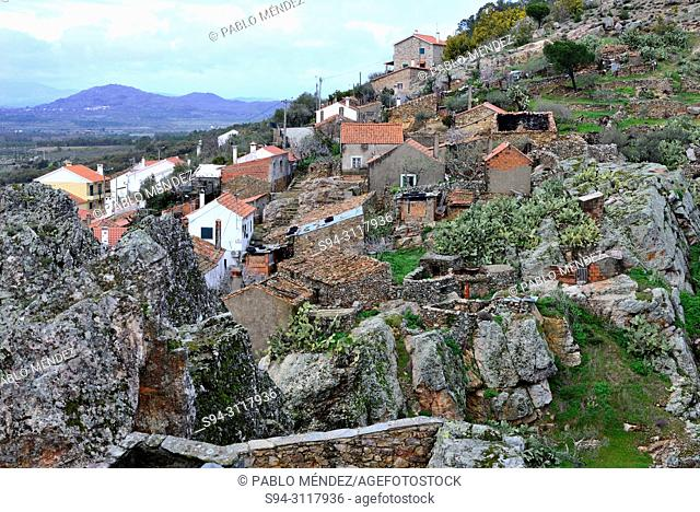 View of the village from the castle, Penha Garcia, Castelo Branco, Portugal
