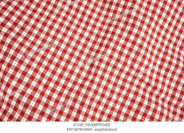 Gingham Red & White cloth