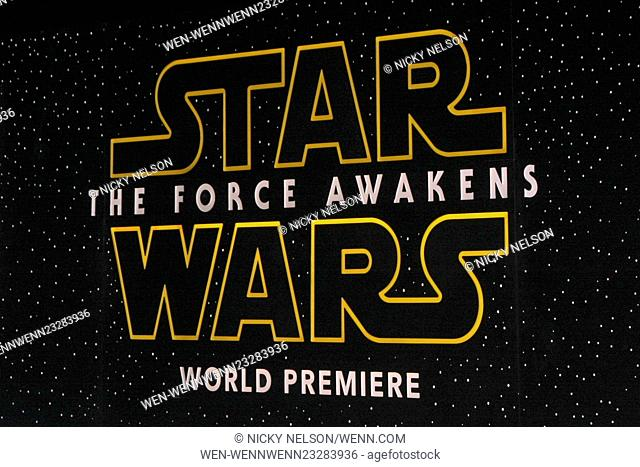 Star Wars - The Force Awakens World Premiere Featuring: Atmosphere Where: Los Angeles, California, United States When: 15 Dec 2015 Credit: Nicky Nelson/WENN