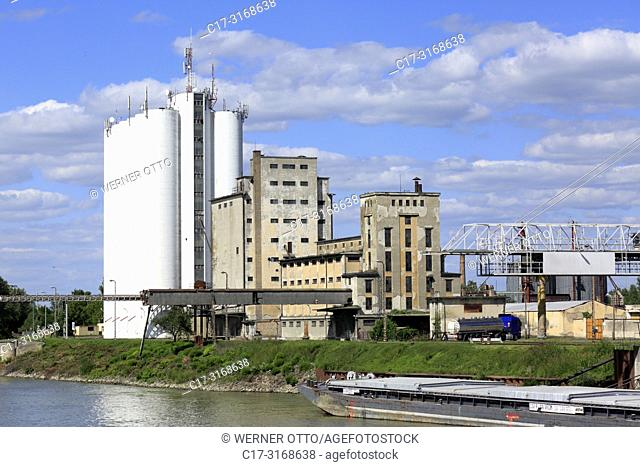 Baja, Hungary, Southern Hungary, Baja on the Danube, Pannonian Plain, Southern Great Hungarian Plain, Bacs-Kiskun County, cement factory Beton Szoevetkezet
