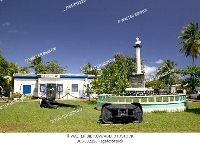 French West Indies (FWI), Guadeloupe, Basse-Terre, Sainte-Marie: Monument to Christopher Columbus, landed here in 1493