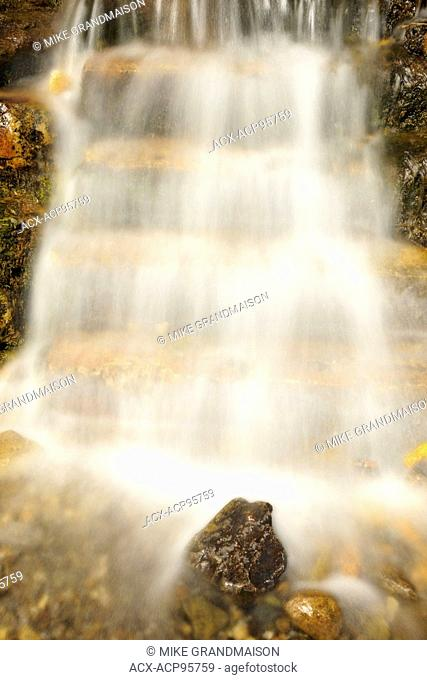 Little waterfall by the roadside on Bow Valley road Banff National Park Alberta Canada