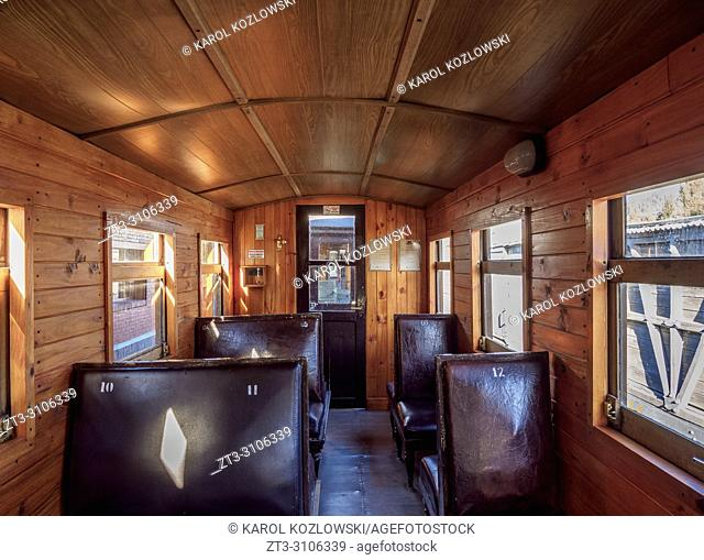 Old Patagonian Express La Trochita, steam train interior, Chubut Province, Patagonia, Argentina