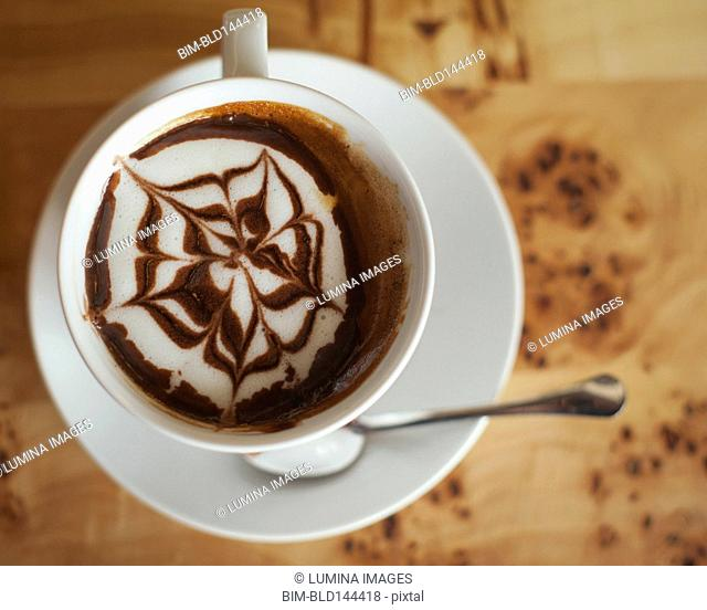 Close up of decorative coffee drink
