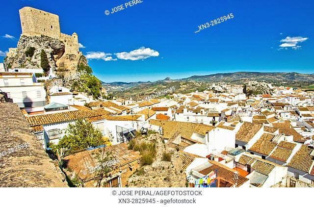 Castle, Olvera, White Towns, Pueblos Blancos, Cadiz province, Andalusia, Spain, Europe
