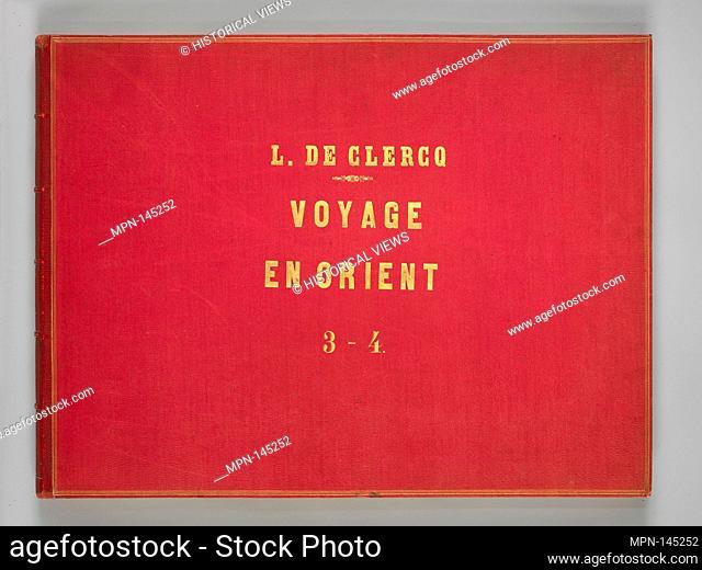 Voyage en Orient et en Espagne Vols 3 & 4 [bound together]. Artist: Louis de Clercq (French, 1837-1901); Lithographer: H. Jannin (French); Printer: J
