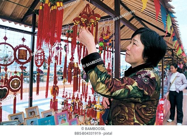 Folk ornaments sold on the Zhongzhou island, Fuzhou City, Fujian Province, People's Republic of China