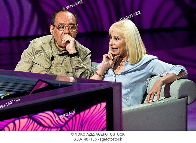 10 04 2011, Milan  'Che tempo che fa' telecast RAI 3  Raffaella Carrà and Gianni Boncompagni
