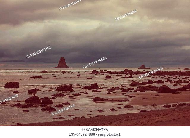 Scenic and rigorous Pacific coast in Washington, USA