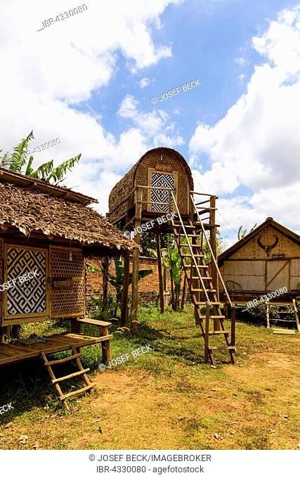 Traditional lodge in Senmonorom, Sen Monorom, Mondul Kiri, Mondulkiri Province, Cambodia