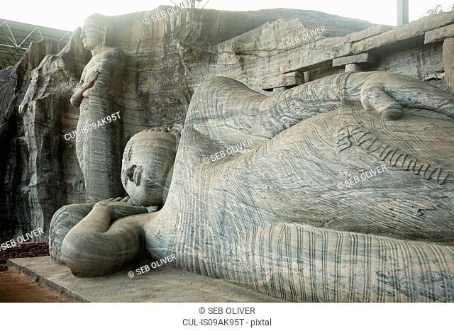 Reclining buddha, Anuradhapura, Sri Lanka