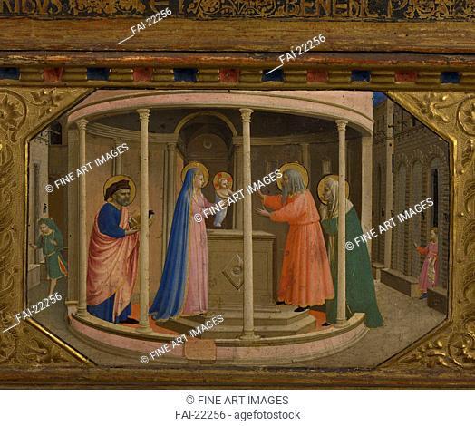 The Presentation in the Temple (The Annunciation retable with 5 Predella scenes). Angelico, Fra Giovanni, da Fiesole (ca. 1400-1455). Tempera on panel