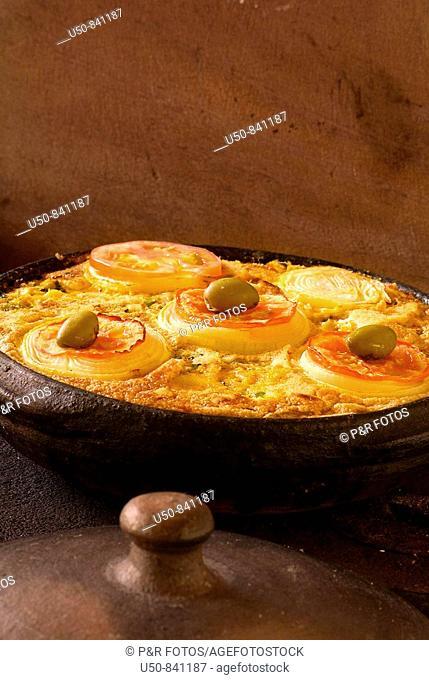 Torta capixaba, dish to Good Friday, Espirito Santo, BrazilIngredients: Fish, heart of palm, eggs, crabs, tomatoes, onions