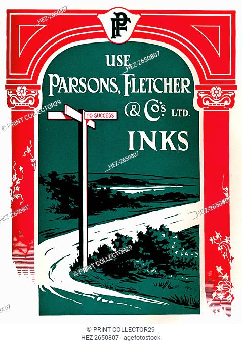 'Parsons, Fletcher & Co.'s Ltd. Inks', 1917. Artist: Parsons Fletcher & Co