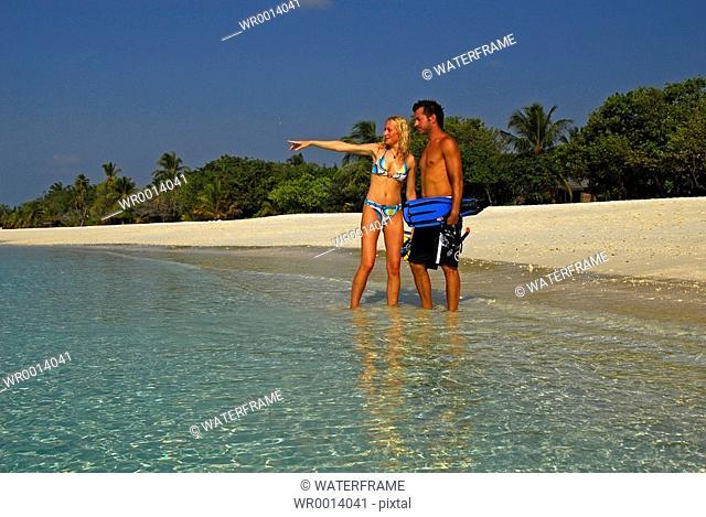 Snorkeling at Maldives, Indian Ocean, Maldives