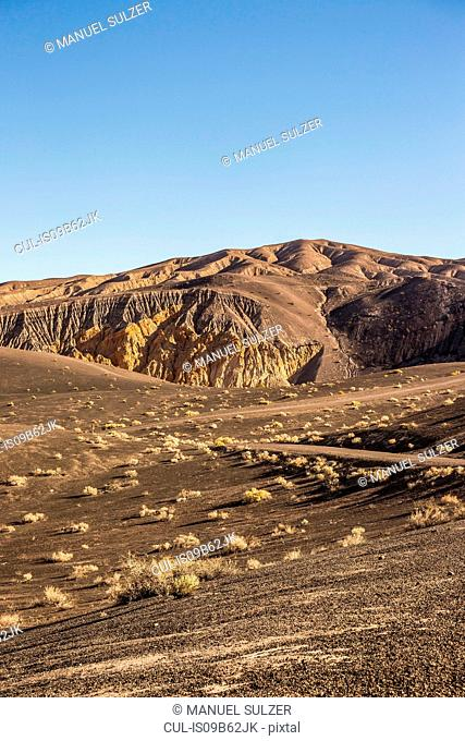 Landscape at Ubehebe Crater in Death Valley National Park, California, USA