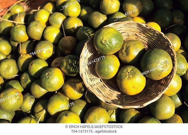 Fresh lemons at a market in Heho / Myanmar