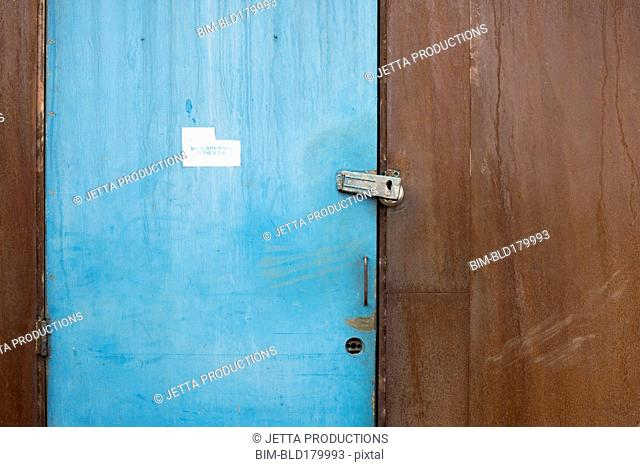 Lock on exterior door