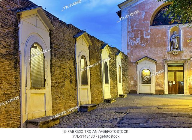 Church of San Bonaventura al Palatino, Rome Italy