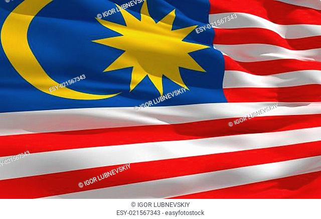 Waving flag of Malasie