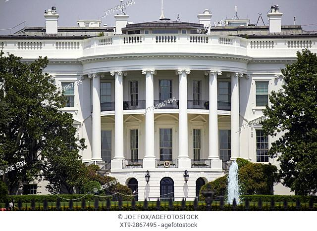southern facade of the white house Washington DC USA