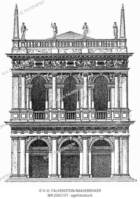 Historical graphic representation, Biblioteca Marciana, Marciana Library, Library of San Marco, Libreria Marciana, Biblioteca Nazionale Marciana