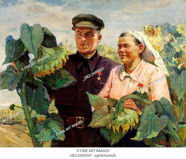 Heroes of Socialist Labor, 1950. From a private collection