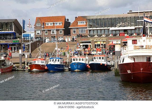 Fishing boats Scheveningen harbour Holland
