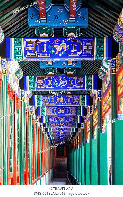 China,Beijing,The Summer Palace,Buddhist Fragrance Pavilion,Stairway Gallery