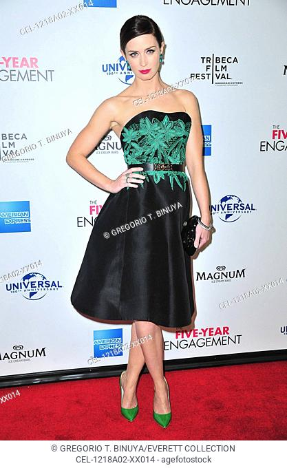 Emily Blunt (wearing a Jason Wu dress) at arrivals for THE FIVE-YEAR ENGAGEMENT Opening Night Premiere of the Tribeca Film Festival 2012, The Ziegfeld Theatre
