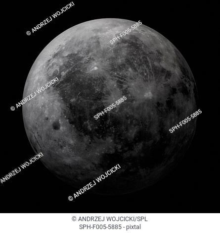 Dark side of the Moon, computer artwork
