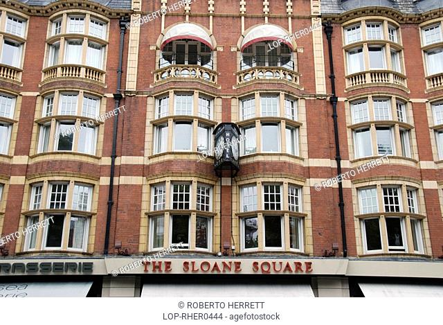 England, London, Chelsea, The front exterior of Sloane Square Hotel in Chelsea