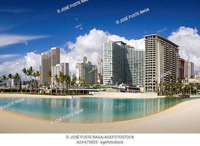 Oct. 2007. USA , Hawaii State. Oahu Island. Honolulu City. Hilton Lagoon