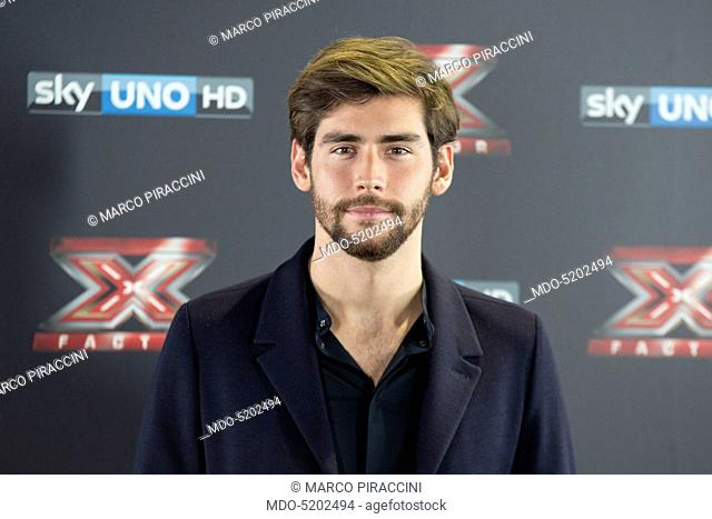 Singer-songwriter Alvaro Soler during the press conference of presentation of the first live episode of the talent show X Factor (Italy series 10)