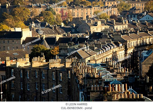 Rooftops of Edinburgh, Scotland