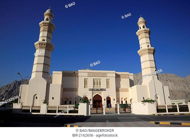 Friday Mosque of al-Khasab, Khasab, in the Omani enclave of Musandam, Oman, Middle East, Asia