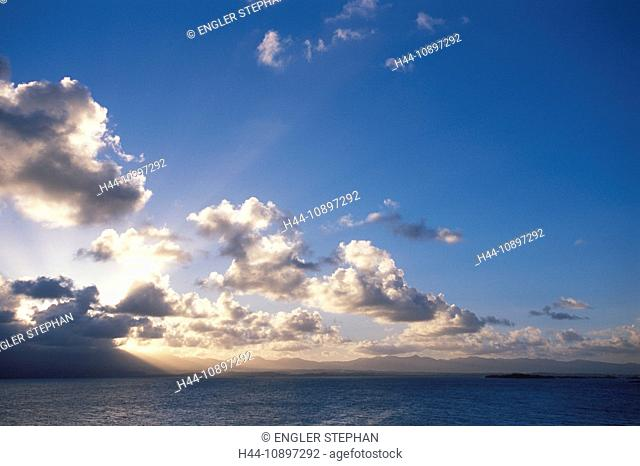 Antilles, Caribbean, harbour, port, Guadeloupe, France, exotic, sea, clouds, skies, heavens, holidays, island, isle