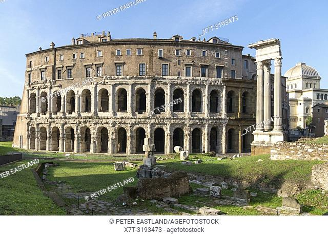 The ancient, Roman Theatre of Marcellus, in the Sant'Angelo district of Rome. Italy