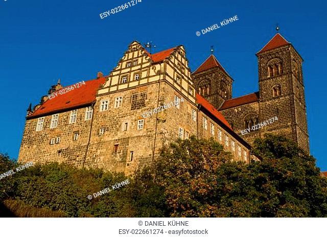 Blick auf die Stiftskirche Quedlinburg
