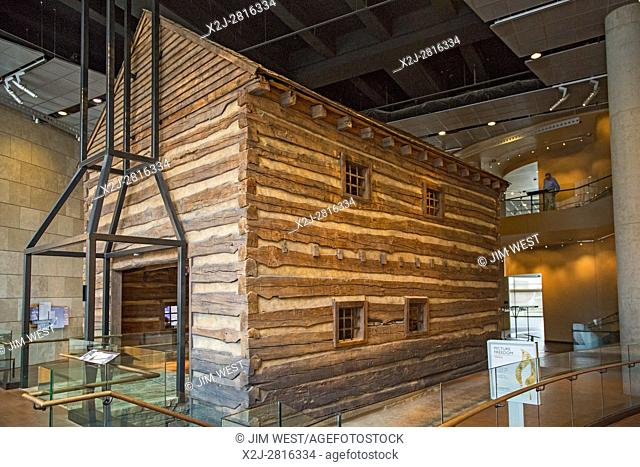 Cincinnati, Ohio - An early 1800s slave pen at the National Underground Railroad Freedom Center, a museum about the history of slavery and the underground...