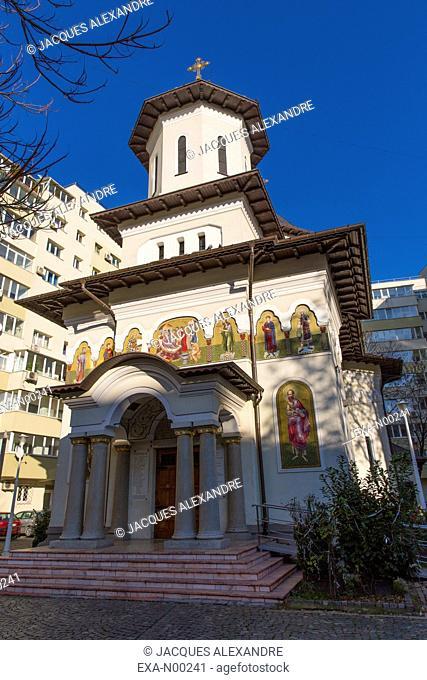 Orthodox church Biserica Nasterea Maicii Domnului in Bucharest, Romania, Europe
