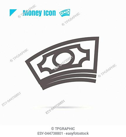 icon money vector illustration isolated sign symbol logo objects thin line for web, modern minimalistic flat design vector on white background