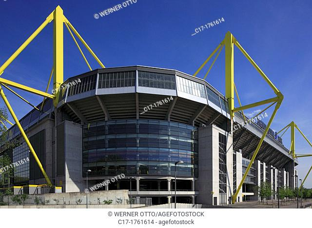 Germany, Dortmund, Ruhr area, Westphalia, North Rhine-Westphalia, NRW, sports, football, Bundesliga, Signal Iduna Park, football stadium